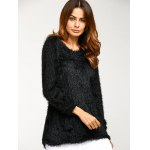 cheap Asymmetric Pullover Mohair Sweater