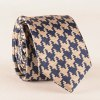 cheap Casual Houndstooth Pattern Tie Pocket Square Bow Tie