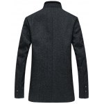 cheap Stand Collar Plus Size Spliced Design Wool Coat