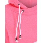 Drawstring Color Block Pullover Hoodie for sale