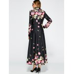 Floral Print Vintage Trench Coat photo