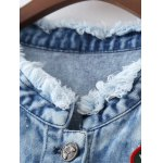Ripped Patched Denim Spliced Jacket deal