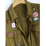 Shirt Neck Patched Duster Coat deal