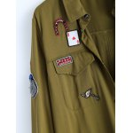 Shirt Neck Patched Duster Coat for sale