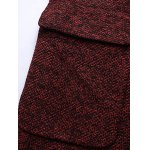 best Lapel Flap Pocket Tweed Wool Mix Coat