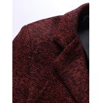 Lapel Flap Pocket Tweed Wool Mix Coat deal