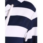 Zip Up Drawstring Striped Hoodie deal