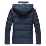 cheap Plus Size Hooded PU Leather Spliced Down Jacket