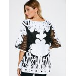 Openwork Embroidery Vintage Blouse for sale
