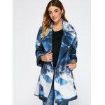 cheap Chinese Painting Woolen Blend Coat