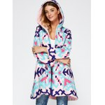 cheap Chinese Style Hooded Embroidery Woolen Blend Coat