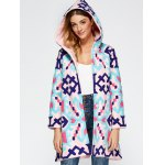 Chinese Style Hooded Embroidery Woolen Blend Coat deal