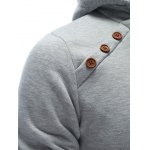 best Inclined Single Breasted Patchwork Hoodie