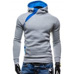 Side Zip Up Button Pocket Pullover Hoodie