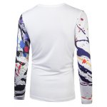 cheap Splatter Paint 3D Leopard Print T-Shirt