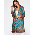 cheap Lapel Collar Printed Walker Coat