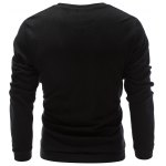 cheap Three Buttons V Neck Sweatshirt