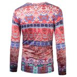 cheap Colorful 3D Ethnic Style Florals Print T-Shirt