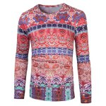 Colorful 3D Ethnic Style Florals Print T-Shirt