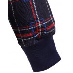 Drawstring Plaid with Pocket Hoodie for sale