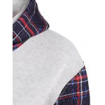 Drawstring Plaid with Pocket Hoodie deal