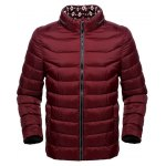 Funnel Neck Zipper Up Padded Jacket