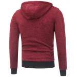 cheap Hooded Cotton Blends Applique Zip Up Hoodie