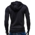 Zip Pocket Drawstring Quilted Hoodie deal