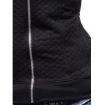 best Zip Pocket Drawstring Quilted Hoodie