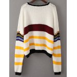 cheap Beading Sequined Color Block Sweater