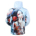 cheap Hooded 3D Classical Girl Print Long Sleeve Hoodie