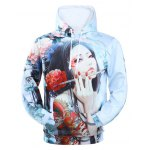 Hooded 3D Classical Girl Print Long Sleeve Hoodie