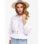 Hollow Out Flounced Blouse deal