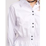 Hollow Out Flounced Blouse photo