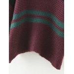 best Color Block Loose Chunky Jumper