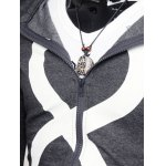cheap Drawstring Graphic Zip Up Hoodie