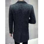 Single Breasted Lapel Letter Patch Coat deal