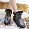 cheap Rivet Buckle PU Leather Snow Boots