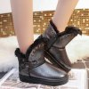 Rivet Buckle PU Leather Snow Boots deal