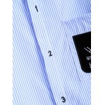 Striped Letter Patched Number Embroidered Shirt photo