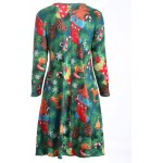 Plus Size Christmas Tree Print Dress photo