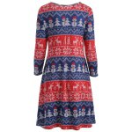 Christmas Snowman Print Swing Dress photo