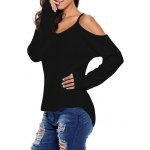 cheap Cami Cold Shoulder Loose Knitwear