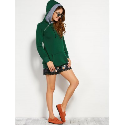 Double Hooded Drawstring Hoodie with Front PocketSweatshirts &amp; Hoodies<br>Double Hooded Drawstring Hoodie with Front Pocket<br><br>Material: Cotton Blend<br>Clothing Length: Long<br>Sleeve Length: Full<br>Style: Fashion<br>Pattern Style: Others<br>Season: Fall<br>Weight: 0.570kg<br>Package Contents: 1 x Hoodie