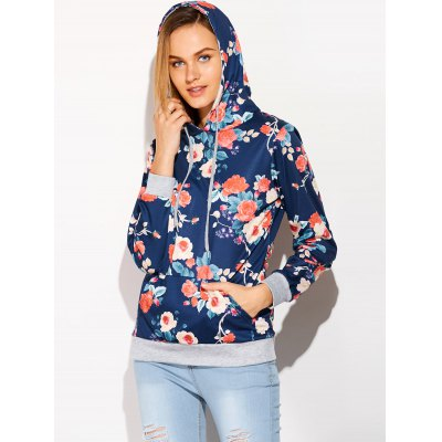 Digital Floral Print Hoodie With PocketSweatshirts &amp; Hoodies<br>Digital Floral Print Hoodie With Pocket<br><br>Material: Polyester<br>Clothing Length: Regular<br>Sleeve Length: Full<br>Style: Fashion<br>Pattern Style: Floral<br>Season: Fall<br>Weight: 0.470kg<br>Package Contents: 1 x Hoodie