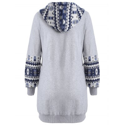 Zip Up Tribal Jacquard HoodieSweatshirts &amp; Hoodies<br>Zip Up Tribal Jacquard Hoodie<br><br>Material: Cotton Blend<br>Clothing Length: Long<br>Sleeve Length: Full<br>Style: Fashion<br>Pattern Style: Geometric<br>Season: Fall,Spring,Winter<br>Weight: 0.470kg<br>Package Contents: 1 x Hoodie