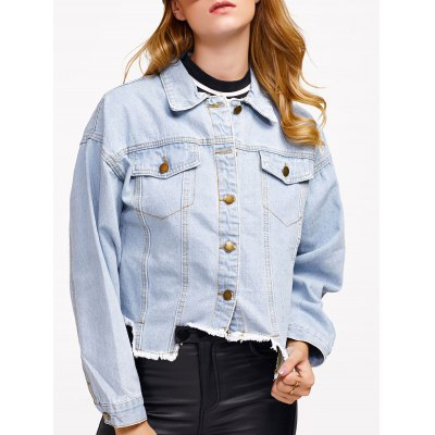 Asymmetrical Denim Jacket