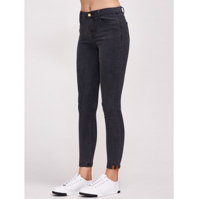 Tight Ninth Length High Waisted Black Skinny Jeans