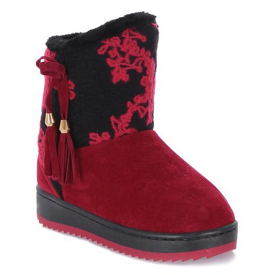 Color Block Snow Boots