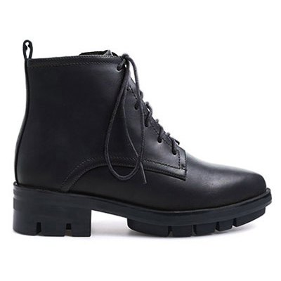 Pointed Toe Combat Boots
